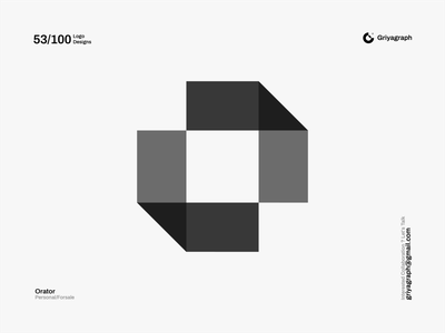 Orator Logo shape o logo letter logo identity branding icon color rounded line modern simple minimal flat creative idea graphic vector design symbol logo