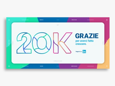 20k followers minimal design color typography vector identity design graphic design branding