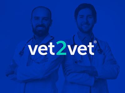 Vet2Vet - Strategy & Identity logo color typography minimal identity design graphic design design branding