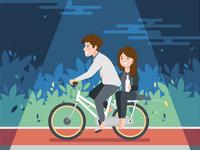 Saturday night Bike