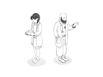 Doctors' Sketches orthographic isometry character design procreate app illustration sketch doctor
