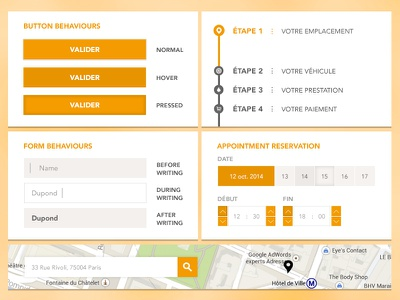 The Bike Washer Website - assets bike orange button form reservation time map search