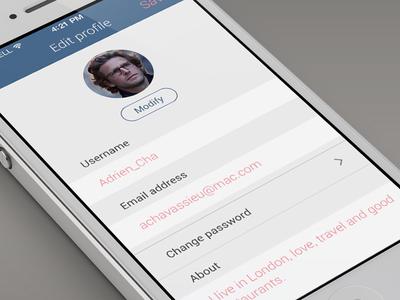 CityTips - Edit profile edit profile usernam email password about blue avatar