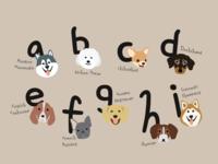 Alphabet Dog Poster
