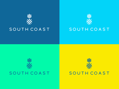 South Coast real estate coastal branding logo