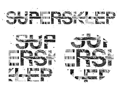 Lettering for Supersklep drawing brand fineliner ink illustration design white black handmade lettering