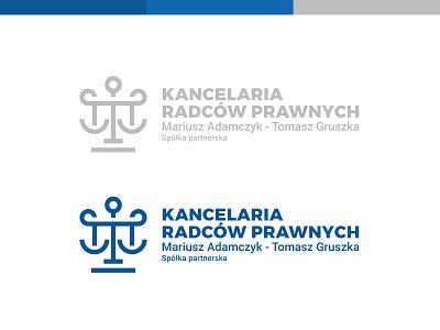 KRP - logo silver blue navy blue scales lawyer design logo