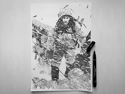 Zvvyciezcy III Maciej Pawlikowski illustration white black photoshop fineliner ink hand-made draw drawing illustration