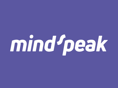 Mindspeak logo white purple brand identity design logotype logo tarka