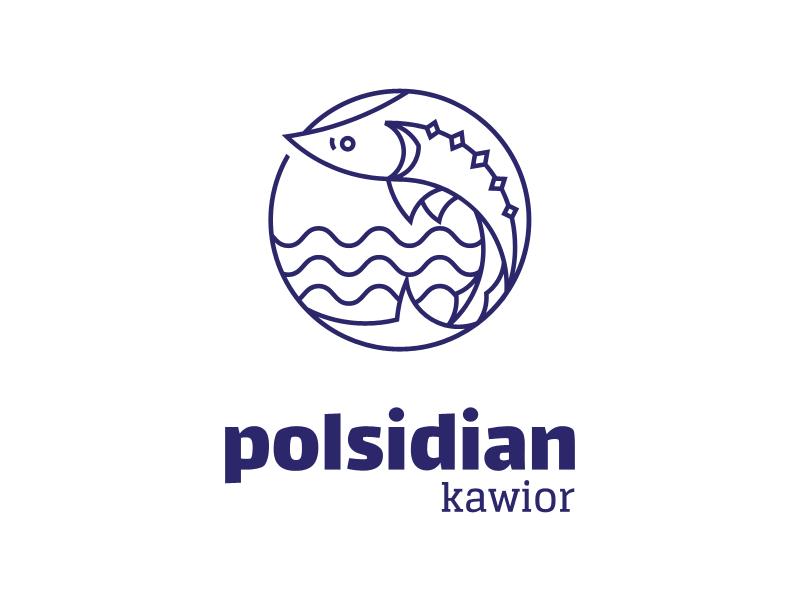Polsidian logo seafood food fish caviar logotype logo