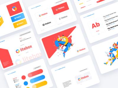 Litebox - Branding argentina indicius litebox yellow blue red vibrant color palette typography design illustration identity logo brand guide branding