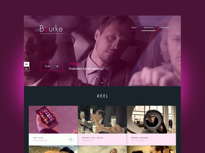 Bourke Films video films background hero grid reel purple thumbnail