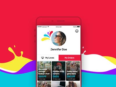 Mobile App - User Feed Screen