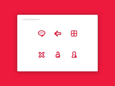 Mobile App - Iconography