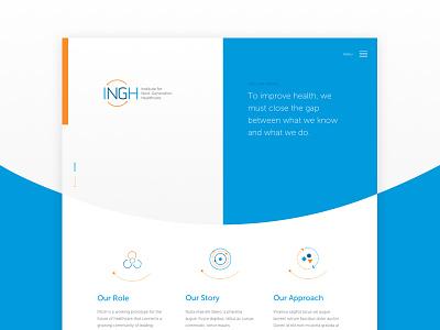 INGH Homepage ui ux website home page landing page medicine school mount sinai icahn biomedical healthcare ingh