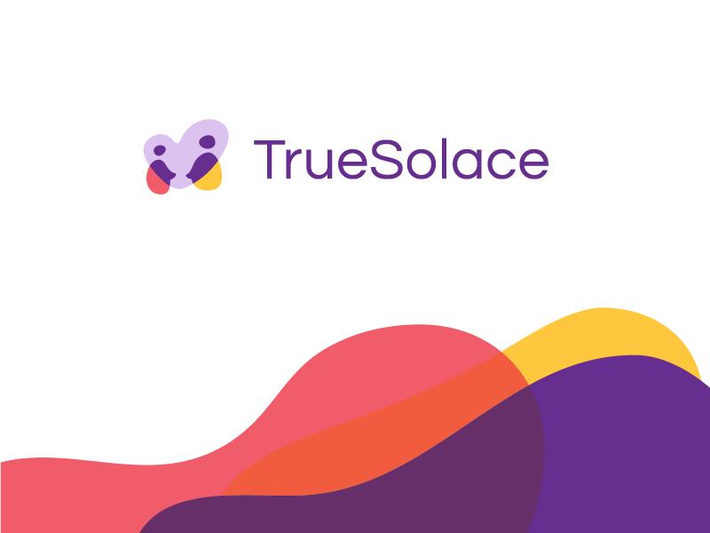 Branding intersection love people relationships heart solace true colors web app bereavement branding logo