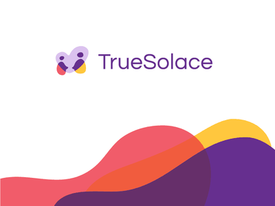 Branding intersection love people relationships heart solace true colors web app bereavement branding logo