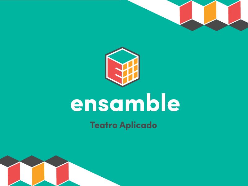 Ensamble Branding playful grid cube geometric sans serif vibrant ensamble theatre game rubik branding logotype