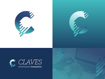 Branding elements blue c isotype gradient lines data movement competitive logotype branding