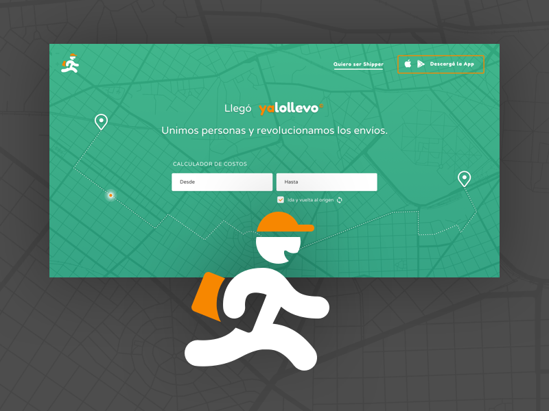 Yalollevo - Marketing Website ui ux landing page design website brand startup shipping delivery yalollevo
