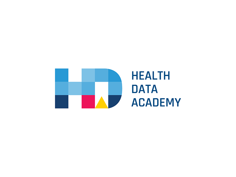 Logo Design branding grid logo mount sinai hackathon medicine institute academy data health design logo