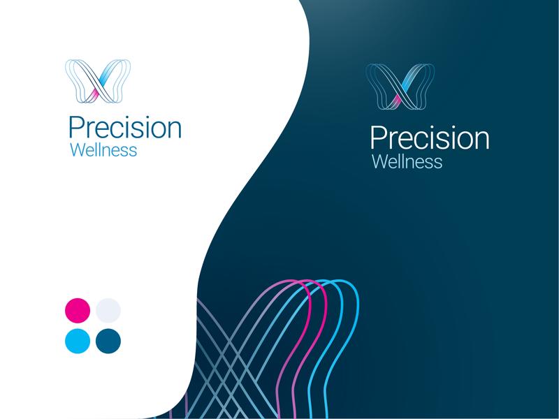 Logo Design branding logo genetics center medicine ingh icahn precision wellness
