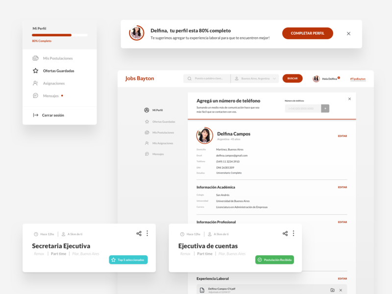 Bayton Jobs - Design Elements design elements landing page indicius human resources design ux ui platform search jobs group bayton argentina