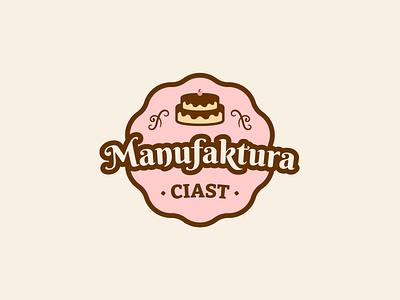 Manufaktura Ciast - Logo design branding sweet homemade bakery cake vector design logo