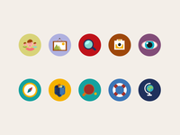 Flat Icon Kit Preview #1