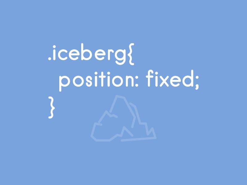 Iceberg - .titanic rebound css iceberg titanic joke