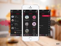 Music App (Playr) - Daily UI #009