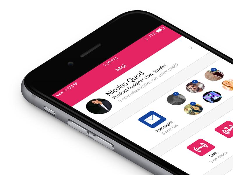 Follow the rules : Don't make an Hamburger Menu app live message profil menu smyler