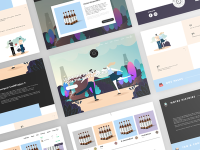 CraftProject - Website craft beer project web illustration ui french