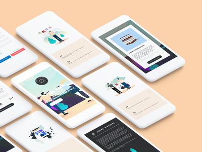 CraftProject - Mobile craft beer project web illustration ui french