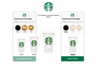 Choose your bevarage - Starbucks tea latte size coffee coffee cup starbucks typography branding daily design ios app ui