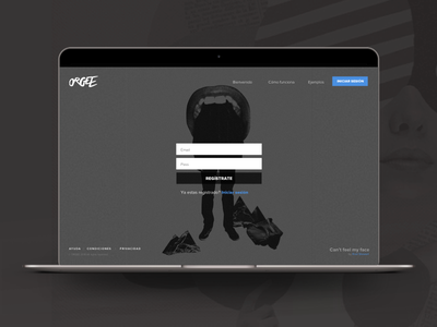 Register Page · Orgee vx ui