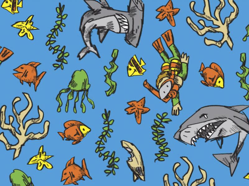 Shark Pattern By Randy Laybourne Dribbble Dribbble Delectable Shark Pattern