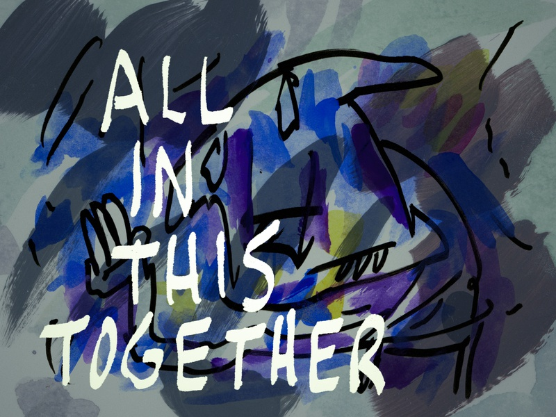 All In This Together ink art cartoon canada sketch montreal illustration drawing