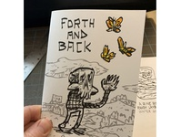 Forth And Back print drawing sketch art zine