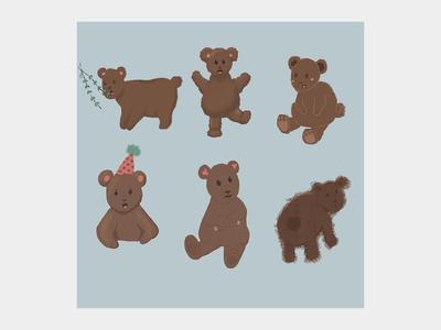 Same Bear - 6 Styles ʕ→ᴥ←ʔ