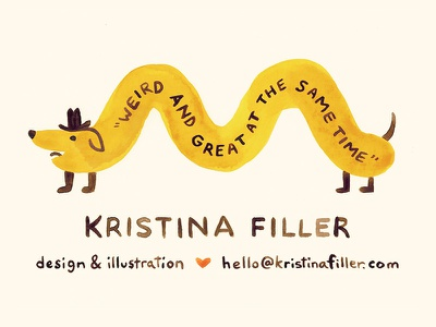 Kfiller Bcard Dribbble weird quirky marketing branding business card illustration design