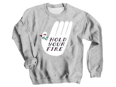 Kfiller Bcard Dribbble Hyf Shirt graphic activist activism gun control protest art apparel sweatshirt bird hand illustration peace design