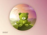 Meditation scene for Wakeout app