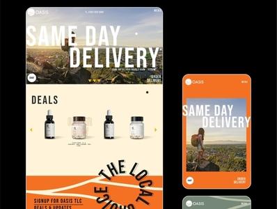 Website Design for Oasis Cannabis