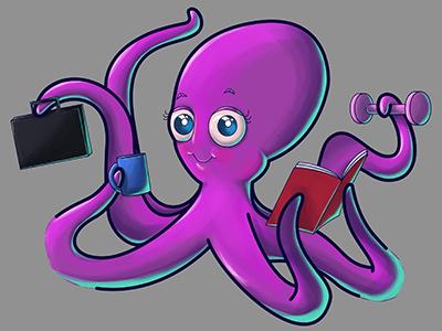 Multitasking Octopus
