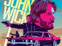 John Wick Pixel Poster