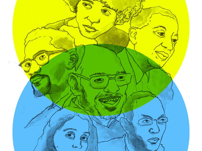 African American Philosophers direction book cover design berlin design digital illustration comicsart digitalboaz graphic novel charachter design editorial illustration illustration