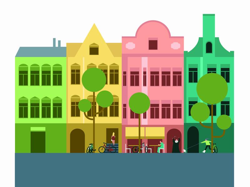 Nachbarschaft competition branding berlin comicsart character design digital illustration vector design graphic novel direction digitalboaz editorial illustration illustration