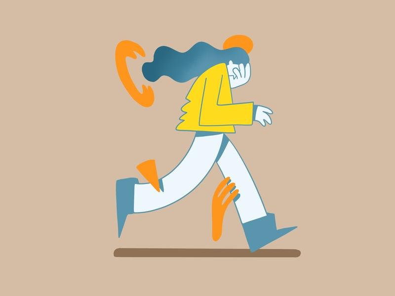 Anxiety web digital illustration vector ui character design berlin design graphic novel comicsart direction editorial illustration digitalboaz illustration