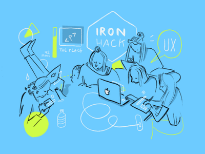 Ironhack UX challenge applepencil ipadpro procreate live illustrstion boazbalachsan digitalboaz challenge women in tech mentorship startup prototyping produktdesign the place teaching berlin design ui ux graphic recording